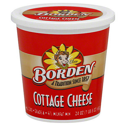 Borden Cottage Cheese Small Curd,24 OZ