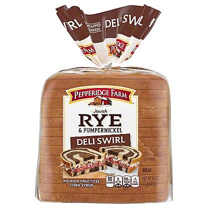 Pepperidge Farm Deli Swirl Rye and Pump Bread,16 oz