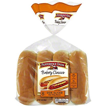 Pepperidge Farm Hot Dog Buns Side Sliced,8 ct