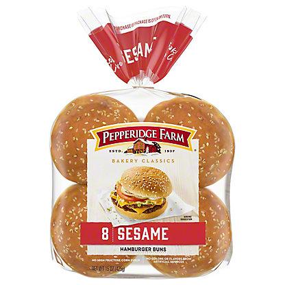 Pepperidge Farm Sesame Topped Hamburger Buns, 8 ct