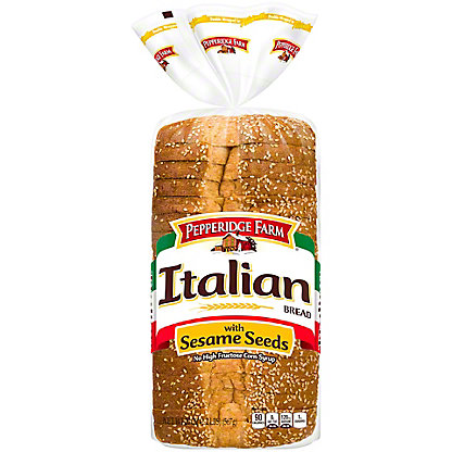 Pepperidge Farm Sliced Enriched Italian Bread With Sesame Seeds,20.00 oz