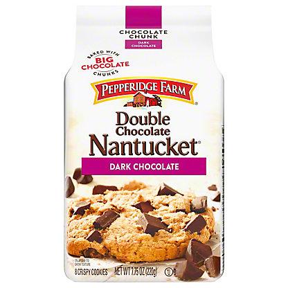 Pepperidge Farm Double Chocolate Nantucket Dark Chocolate Crispy Cookies 7 75 Oz Central Market