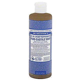 Dr. Bronner's 18-in-1 Hemp Peppermint Pure-Castile Soap,16 OZ