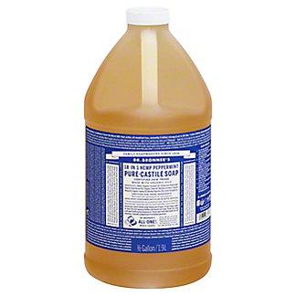 Dr. Bronner's 18-in-1 Hemp Peppermint Pure-Castile Soap,64 OZ