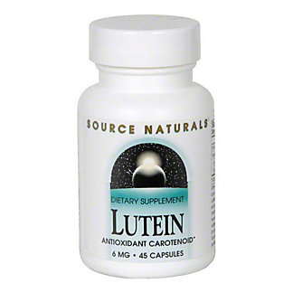 Source Naturals Lutein 6 Mg Capsules, 45 CT