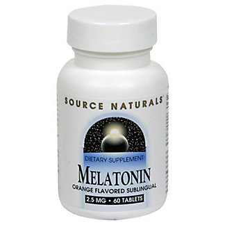 Source Naturals Melatonin 2.5 mg Orange sublingual Tablets, 60 CT