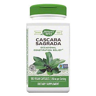 Nature's Way Premium Herbal Cascara Sagrada Aged Bark 425 mg Vegetarian Vcaps, 180 CT