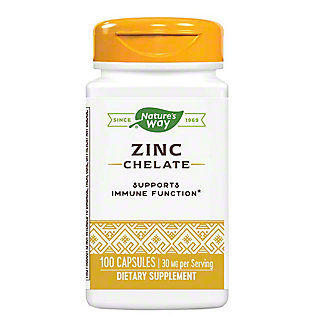 Nature's Way Zinc 30 Mg. Capsules, 100 ct