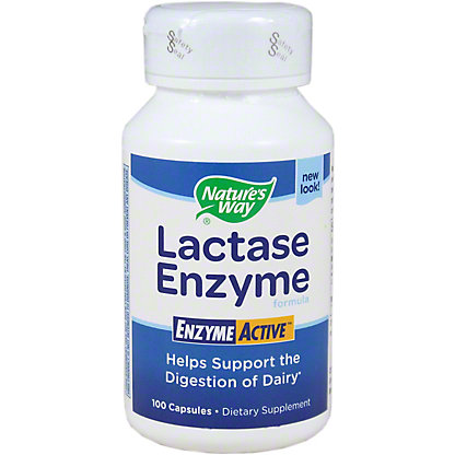 Nature's Way Lactase Enzyme Capsules, 100 ct