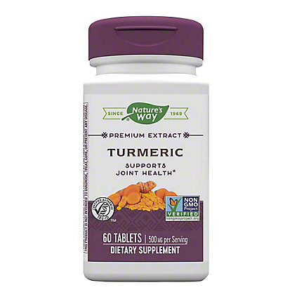 Nature's Way Premium Extract Turmeric Standardized Tablets,60 CT