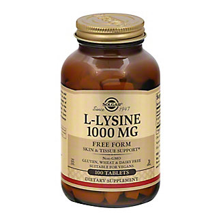 Solgar L-Lysine 1,000 Mg. Tablets, 100 CT