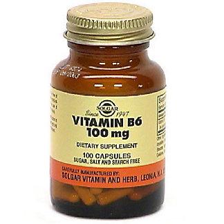 Solgar Solgar Vitamin B-6 100 Mg. Capsules, 100.00 ea