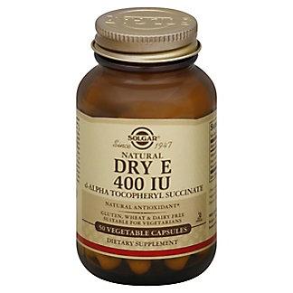 Solgar Dry E 400 IU Vegetable Capsules, 50 CT
