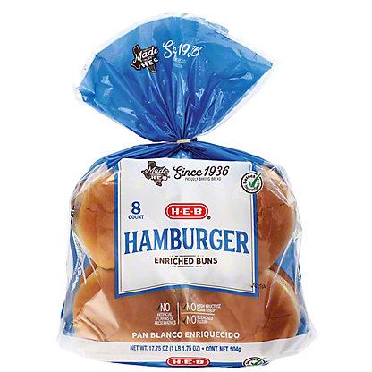 H-E-B Bake Shop Enriched Hamburger Buns,8 CT