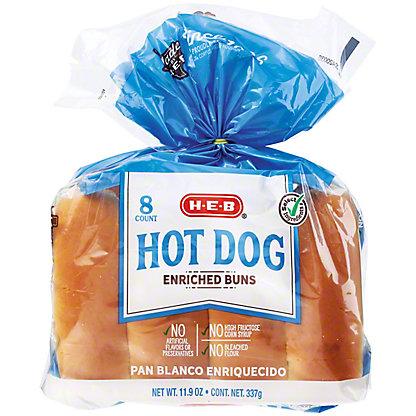 H-E-B Bake Shop Enriched Hot Dog Buns,8.00 ea