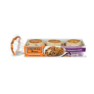 Thomas' Cinnamon Raisin English Muffins,6.00 ea