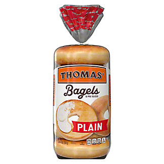Thomas' Plain Pre-Sliced Bagels,6 CT