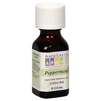 Aura Cacia Pure Aromatherapy Cooling Peppermint 100% Pure Essential Oil,0.5 OZ