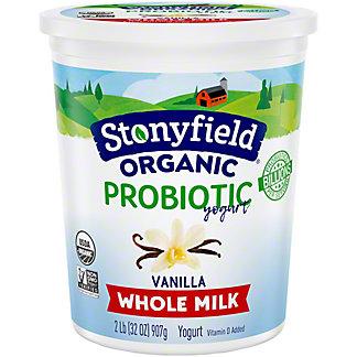 Stonyfield Organic Smooth & Creamy Whole Milk French Vanilla Yogurt, 32.00 oz