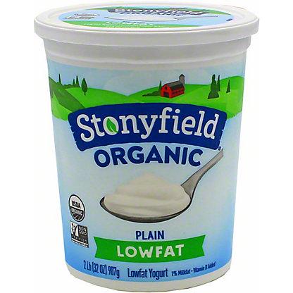 Stonyfield Organic Smooth & Creamy Lowfat Plain Yogurt,32 oz