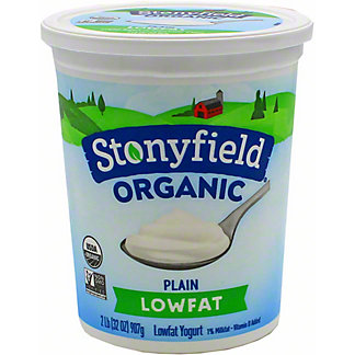 Stonyfield Organic Smooth & Creamy Lowfat Plain Yogurt,32 oz