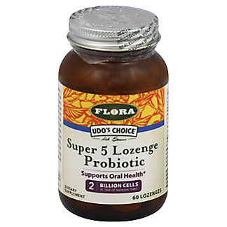 Flora Udo's Choice Super Five Lozenge Probiotic Capsules, 60 ct