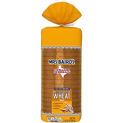 Mrs Baird's Buttered Split Top Wheat Bread, 20 oz