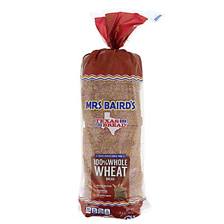Mrs Baird's 100% Whole Wheat Bread,20 OZ
