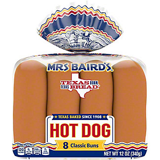 Mrs Baird's Hot Dog Buns,8 CT