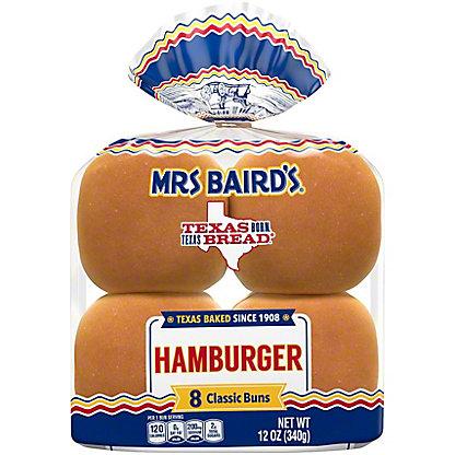 Mrs Baird's Enriched Buns, 8 ct