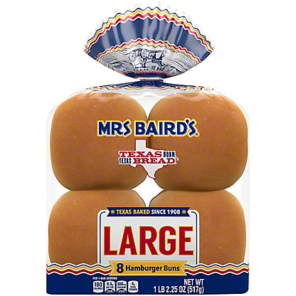 Mrs Baird's Large Enriched Buns,8 CT