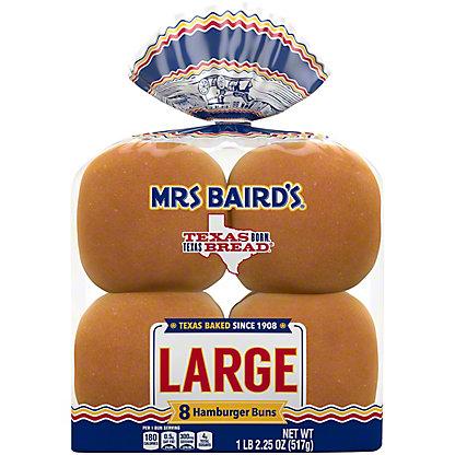 Mrs Baird's Large Enriched Buns,8 CT