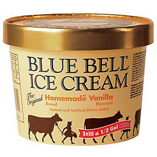 Blue Bell Gold Rim Ice Cream, Assorted Flavors,1/2 GAL