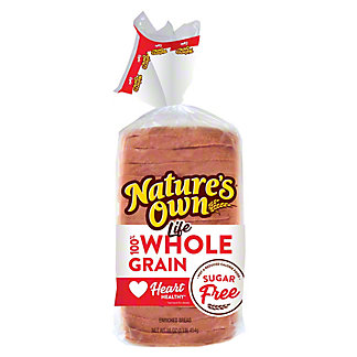 Nature's Own Life 100% Whole Grain Sugar Free Bread,16 oz