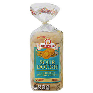Oroweat Fork-Split Sourdough English Muffins,6 CT