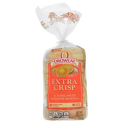 Oroweat Extra Crisp Fork-Split English Muffins,6 CT