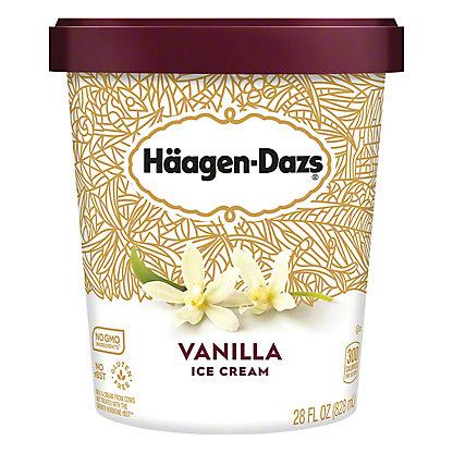 Haagen-Dazs Vanilla Ice Cream, 28 oz