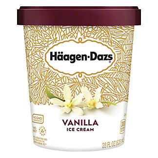 Haagen-Dazs Vanilla Ice Cream, 28 oz