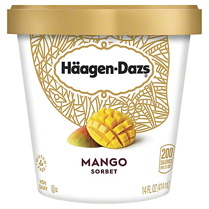 Haagen-Dazs Mango Sorbet, 14 oz