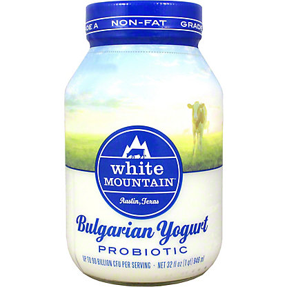 White Mountain Bulgarian Non-Fat Yogurt, 32 oz