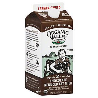 Organic Valley 2% Chocolate Reduced Fat Milk, 64 OZ