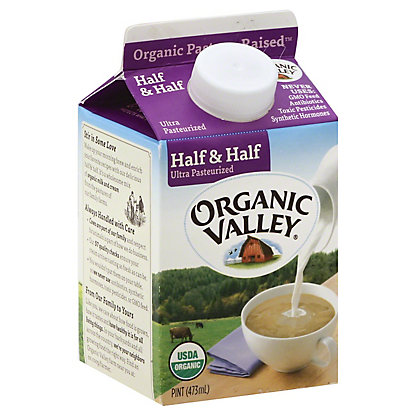 Organic Valley Half & Half,16 OZ