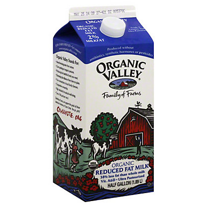 Organic Valley Lowfat Milk,.5 GAL