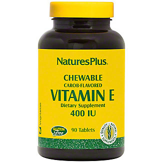 Nature's Plus Vitamin E 400 IU Chewable Tablets, 90 ct