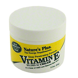 NATURES PLUS Vitamin E Cream, 2.2 OZ