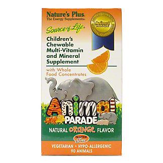 Nature's Plus Source of Life Animal Parade Children's Multivitamin Orange Flavor Chewable, 90 CT