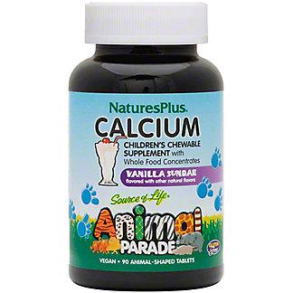Nature's Plus Source of Life Animal Parade Children's Calcium Vanilla Sundae Flavor Tablets, 90 ct