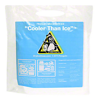 Penguin Brand Dry Ice Cooler Than Ice, EACH