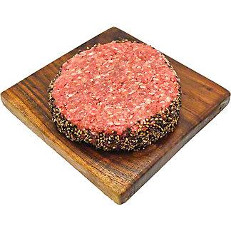 Fresh Lean Sirloin Peppered Beef Patty