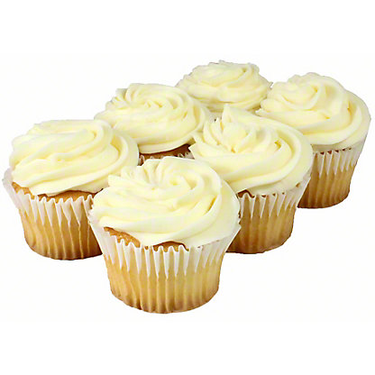 Central Market White Cupcakes, 6 ct